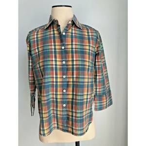 F by FACONNABLE Plaid Button Front Shirt